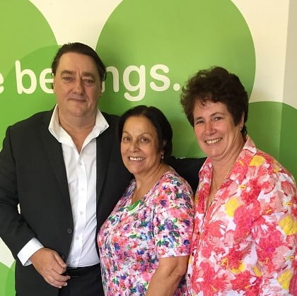 Interchange CEO Wendel Bamford, Community Facilitator Brigid and Spearwood Service Centre Manger, Alison Konkel